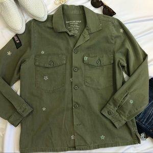 American Eagle Military Jacket Dreamer floral  L H